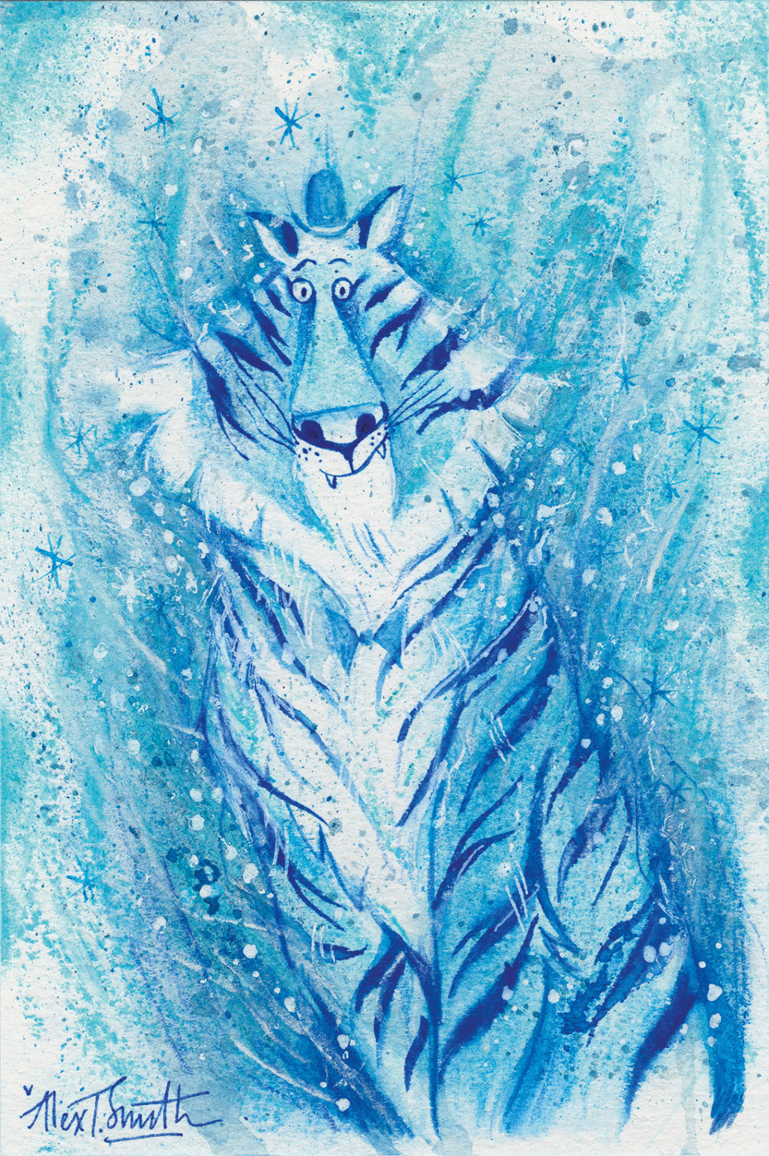 Tiger (Alex T Smith Patronus on a Postcard)