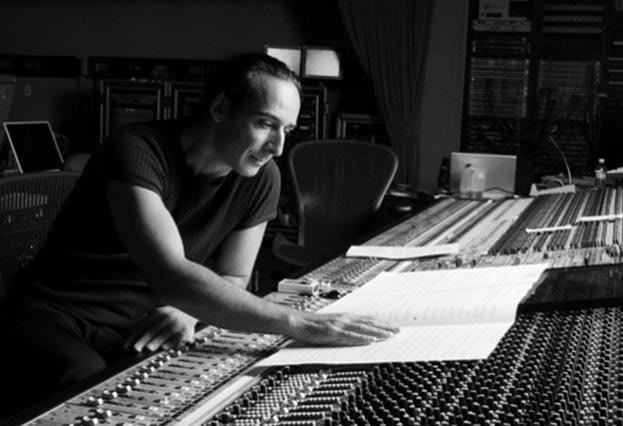 Alexandre Desplat in studio.