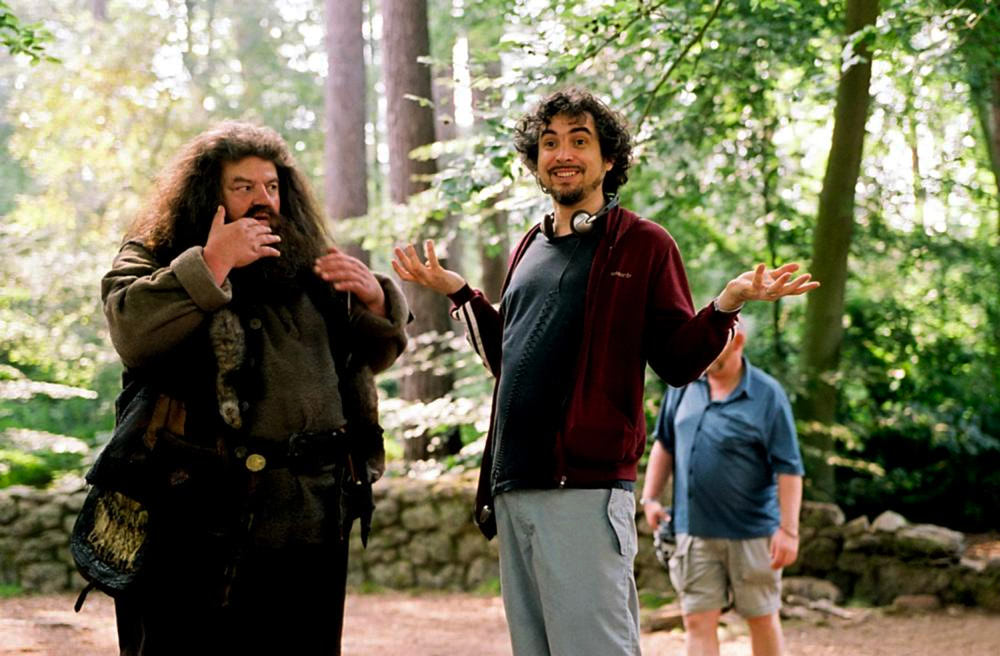 Alfonso Cuarón and Robbie Coltrane