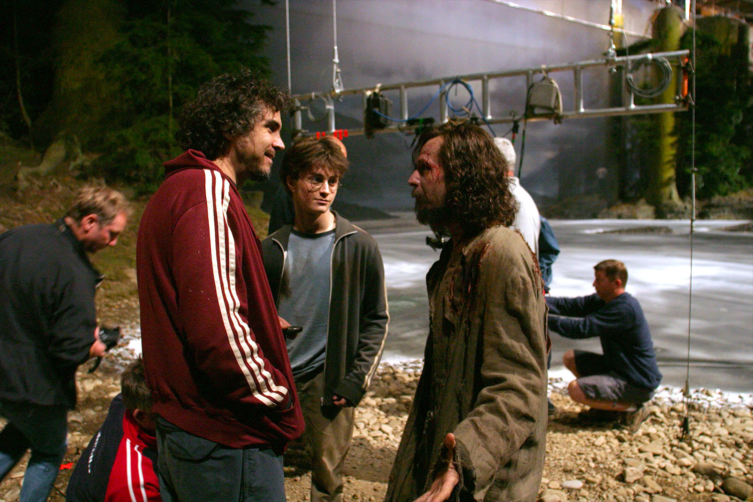 Alfonso Cuarón directs Dan Radcliffe and Gary Oldman
