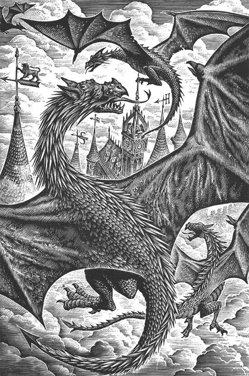 Andrew Davidson's 'Goblet of Fire' wood engraving
