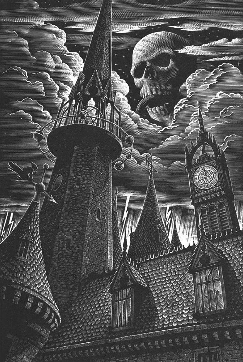 Andrew Davidson's 'Half-Blood Prince' wood engraving