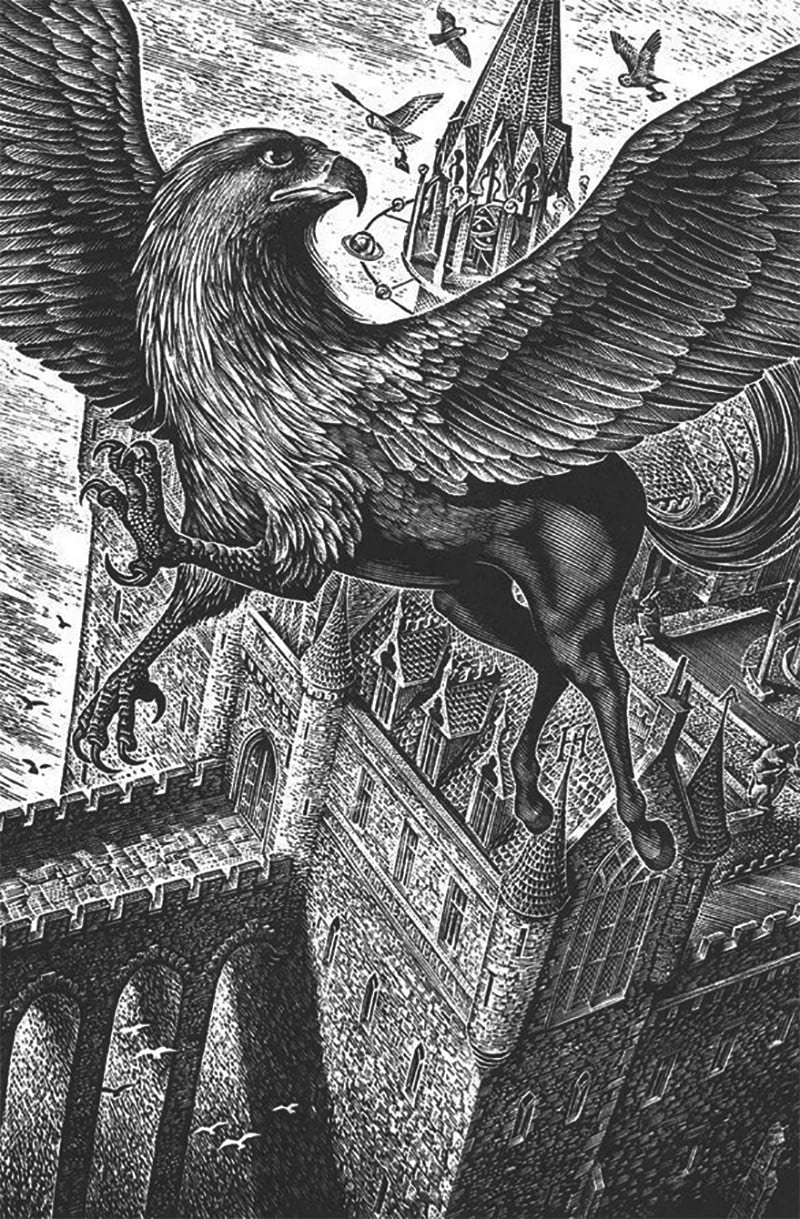 Andrew Davidson's 'Prisoner of Azkaban' wood engraving