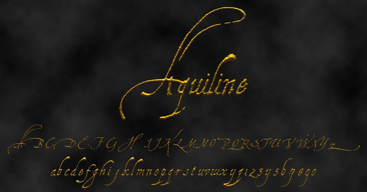 'Aquiline' font