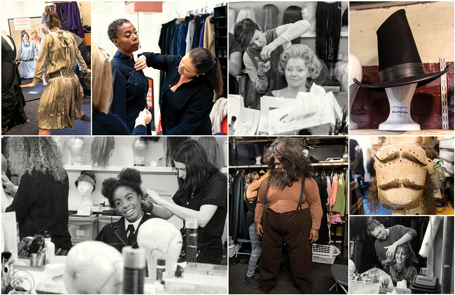 Backstage shots ('Cursed Child: The Journey' book)