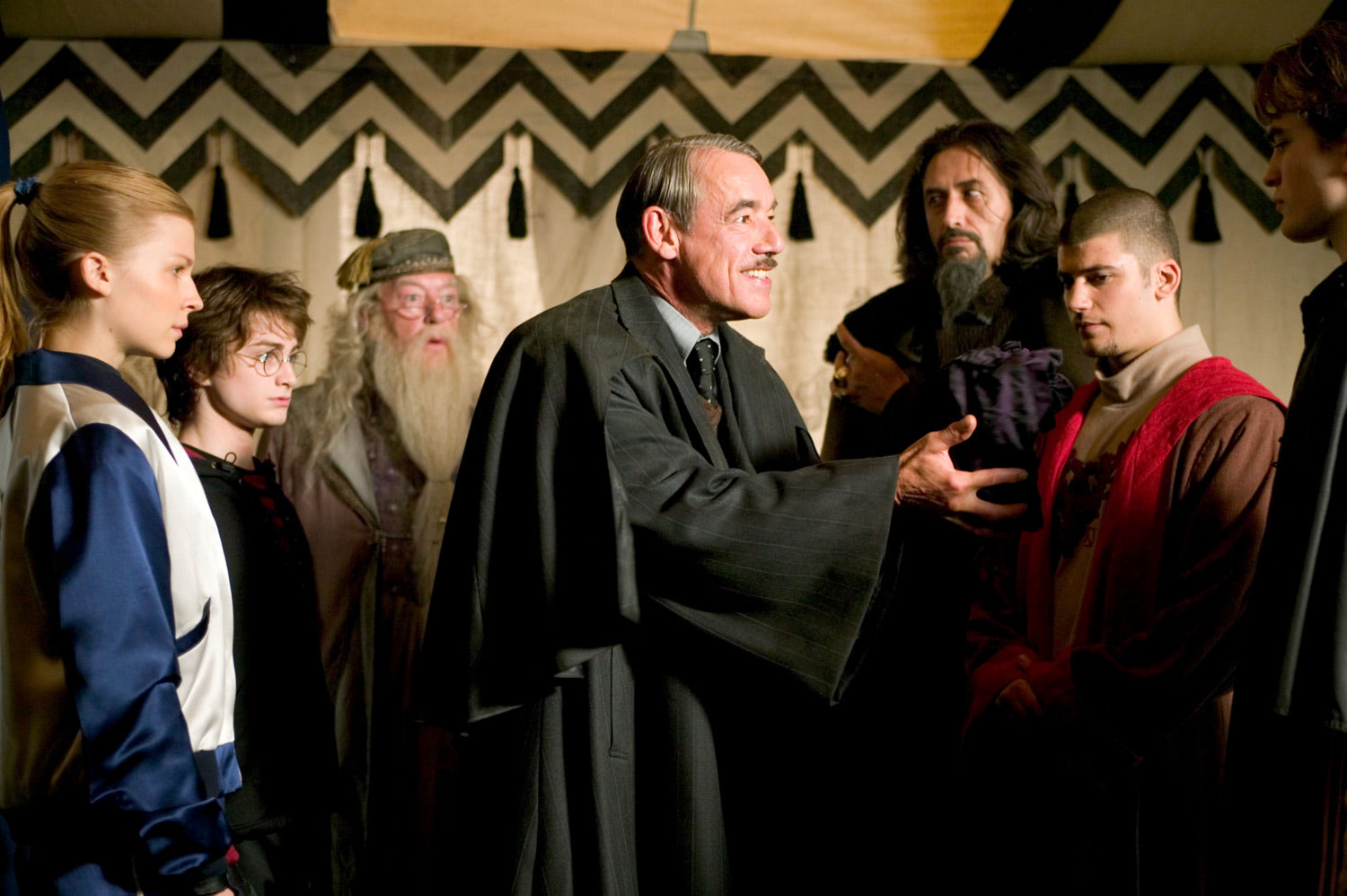 Barty Crouch addresses the Triwizard champions