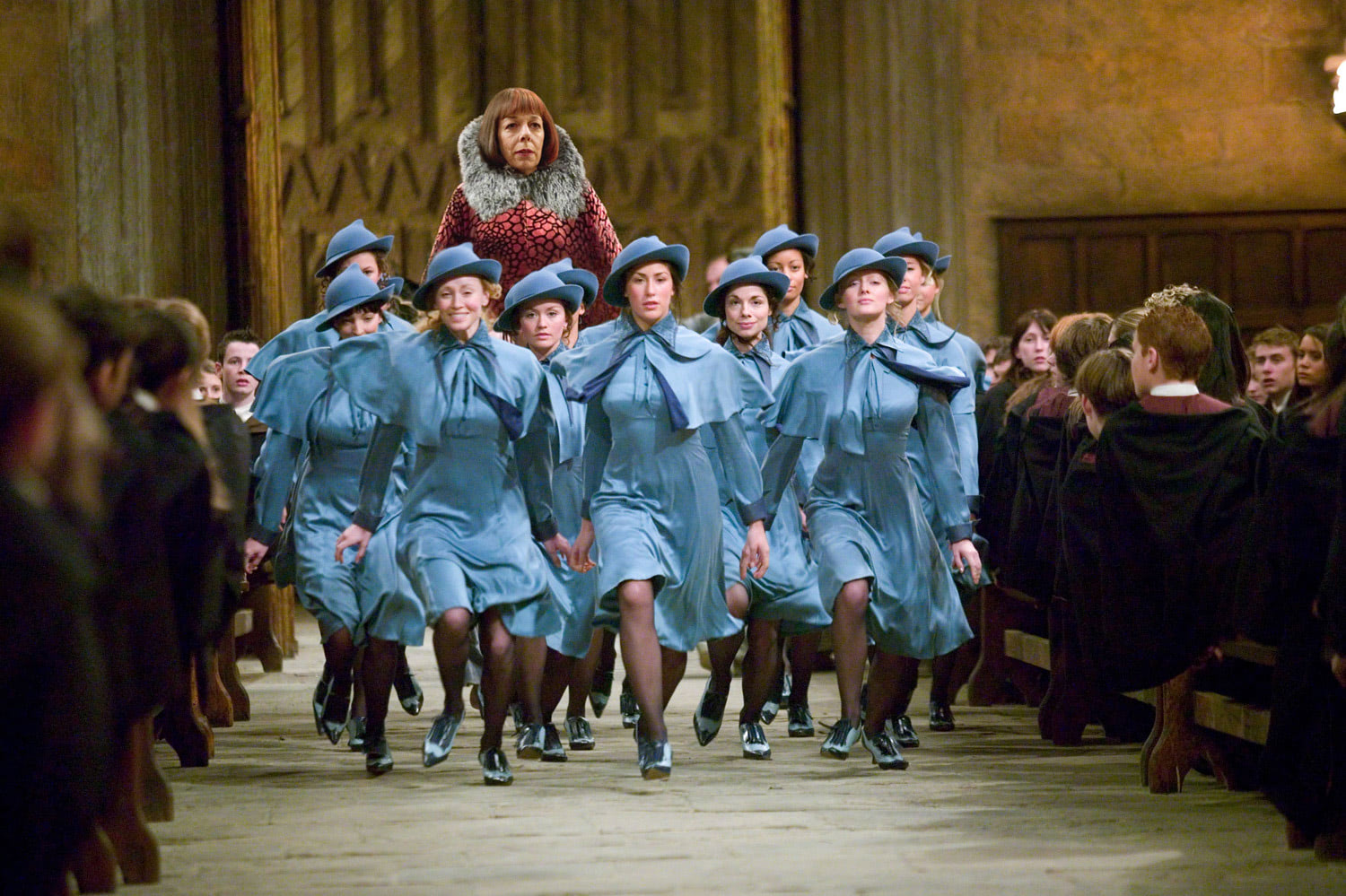 Beauxbatons students arrive at Hogwarts