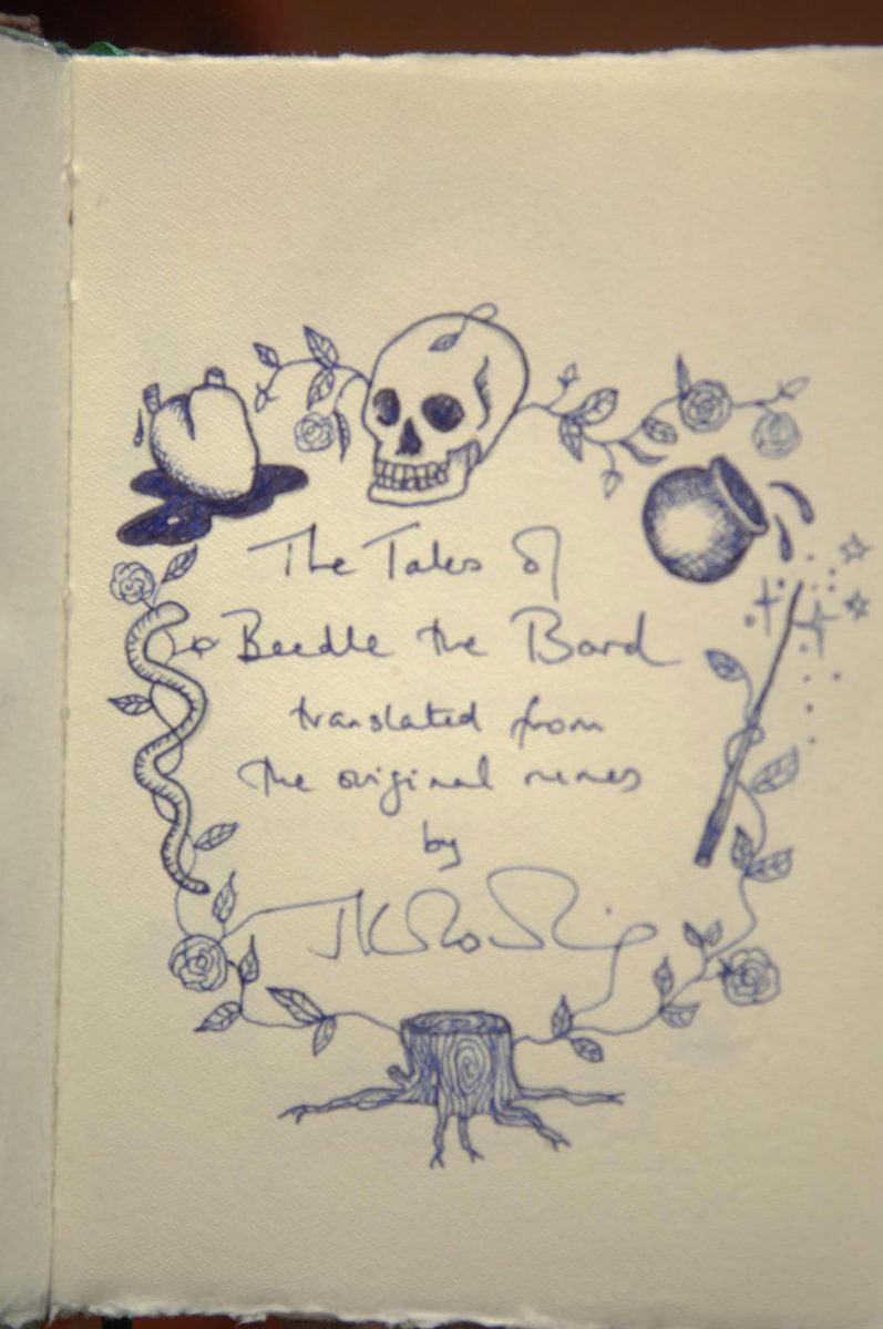 J.K. Rowling's 'Beedle the Bard' manuscript