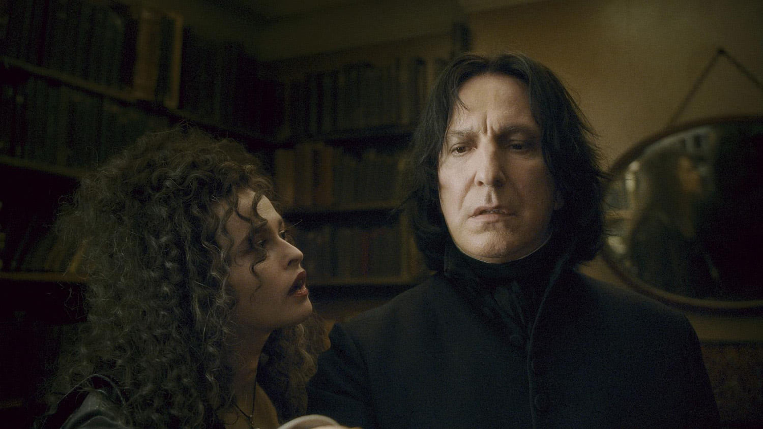 Bellatrix and Snape at Spinner's End