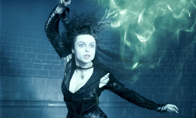 Bellatrix Lestrange casts a spell