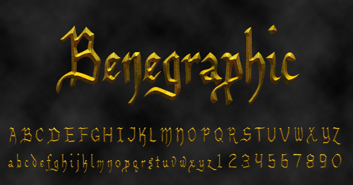'Benegraphic' font