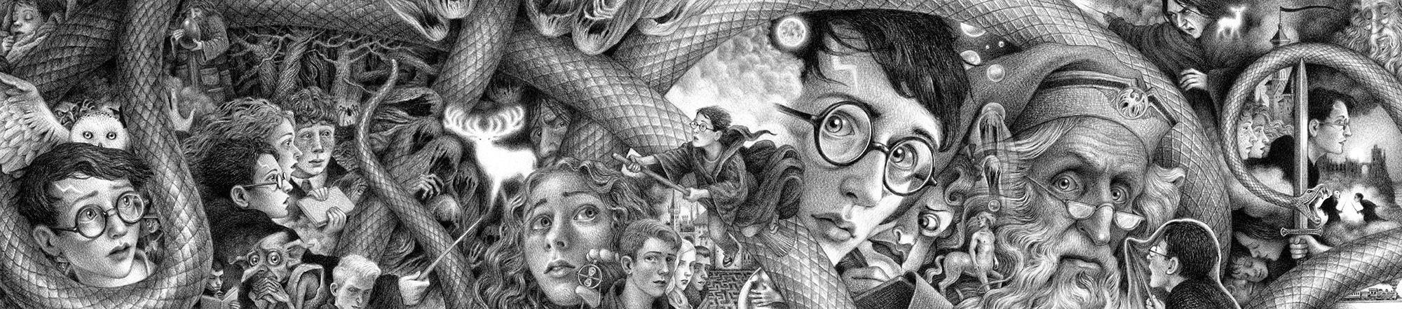 Brian Selznick's 'Harry Potter' covers.