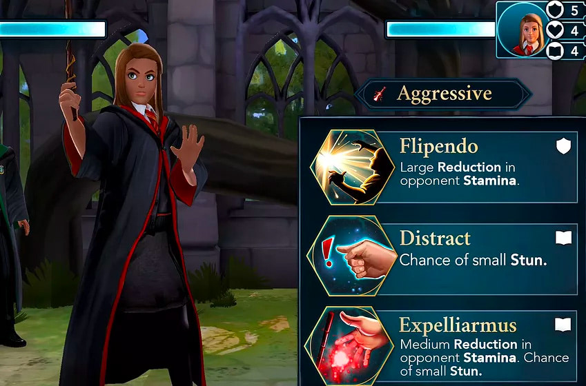 Casting spells (Hogwarts Mystery)