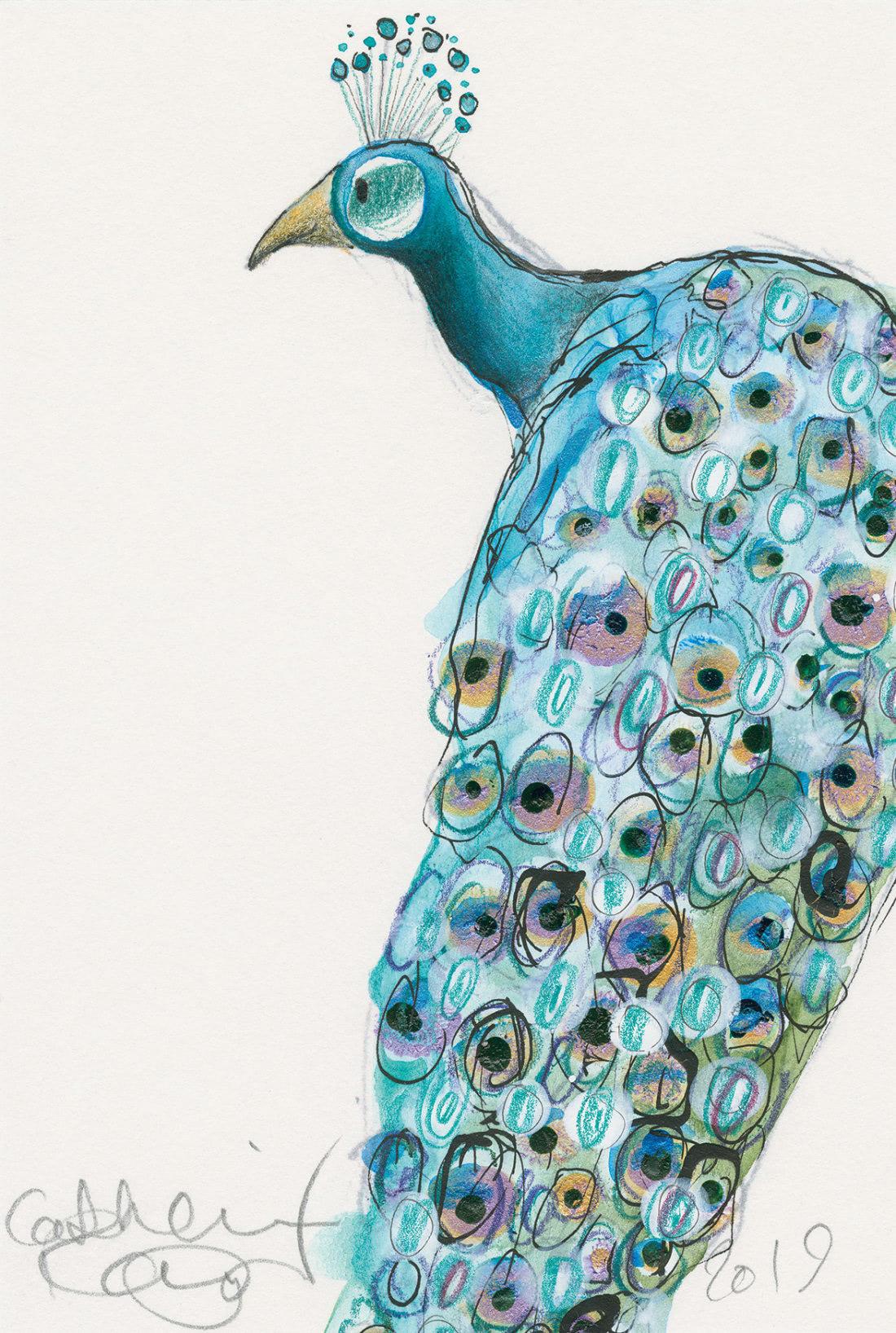 Peacock (Catherine Rayner Patronus on a Postcard)