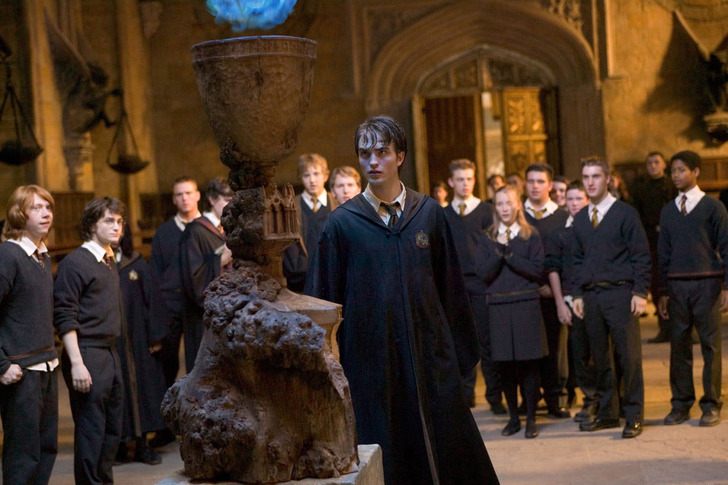 Cedric enters his name in the Goblet of Fire