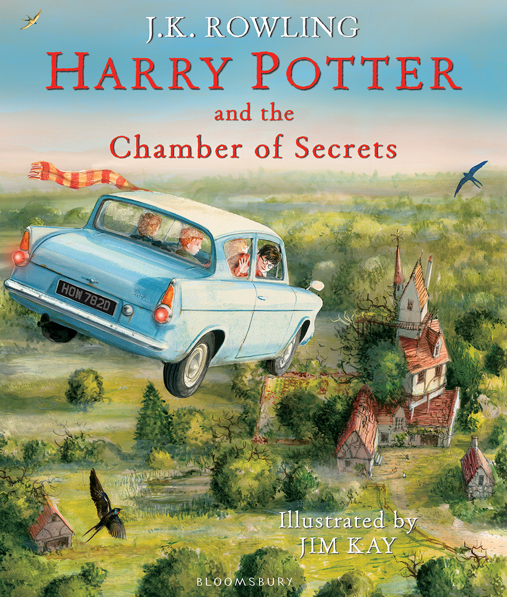 'Chamber of Secrets' illustrated edition cover