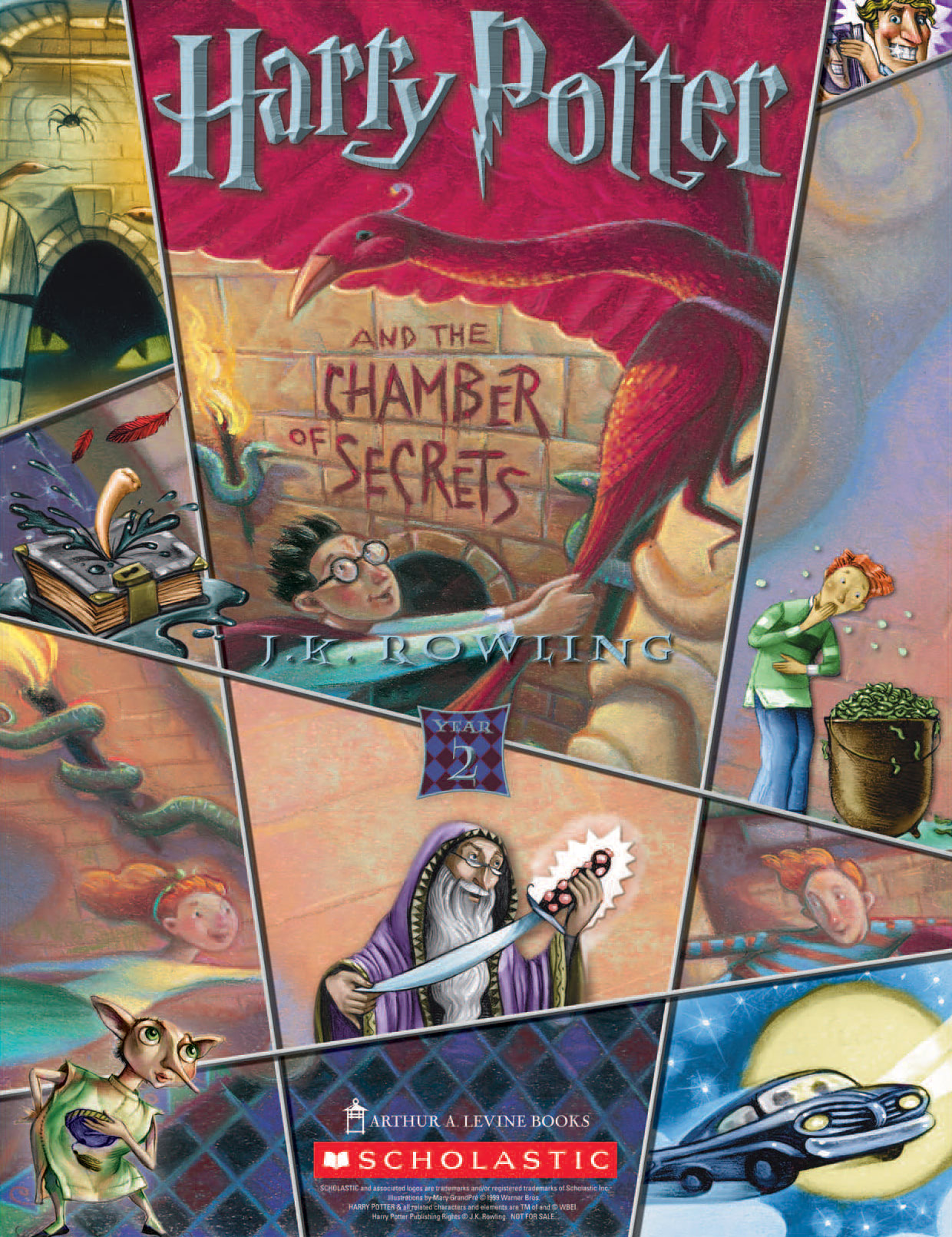 'Chamber of Secrets' (Year 2) Scholastic promotional poster