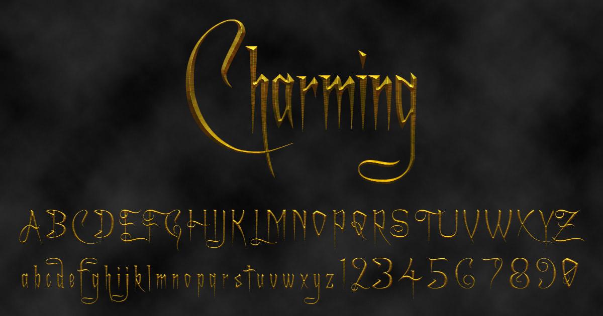 'Charming' font