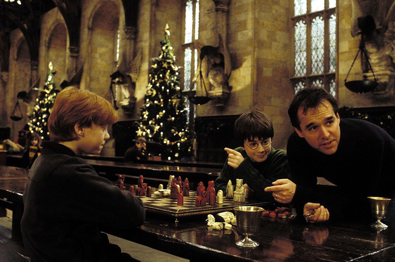 Chris Columbus, Ron Weasley and Dan Radcliffe