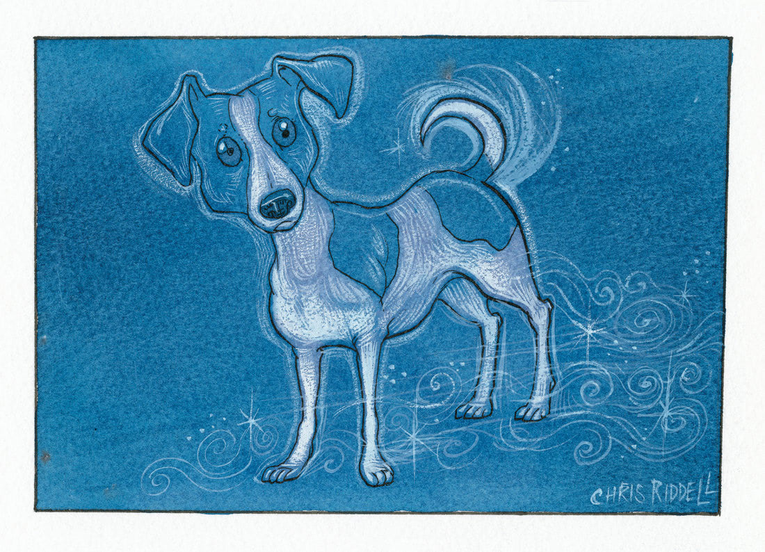 Jack Russell Terrier (Chris Riddell Patronus on a Postcard)