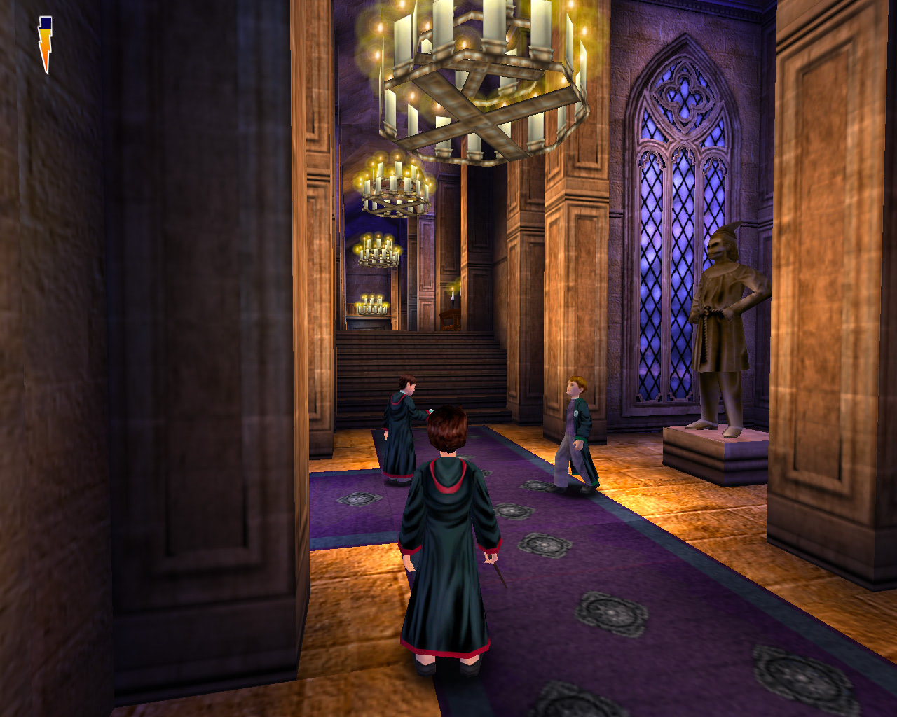 Students in a corridor (Sorcerer's Stone video game)