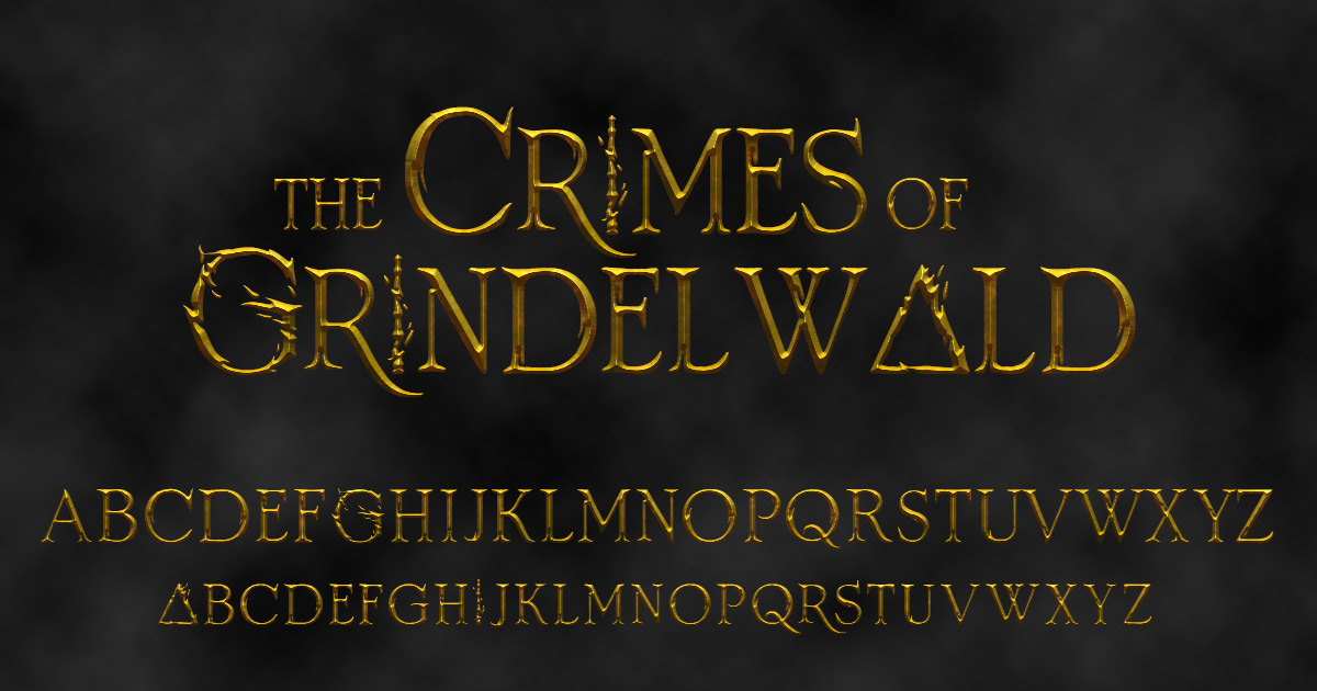 'Crimes of Grindelwald' font