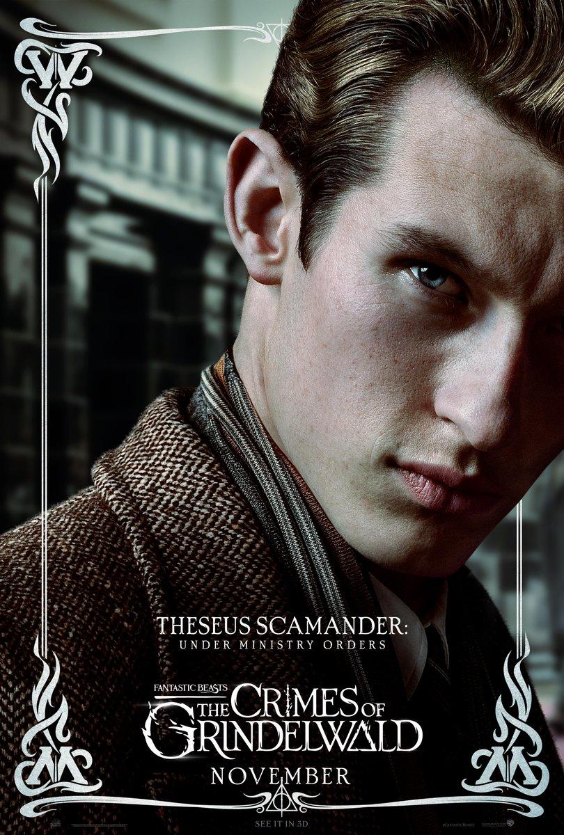 'Crimes of Grindelwald' Theseus Scamander poster