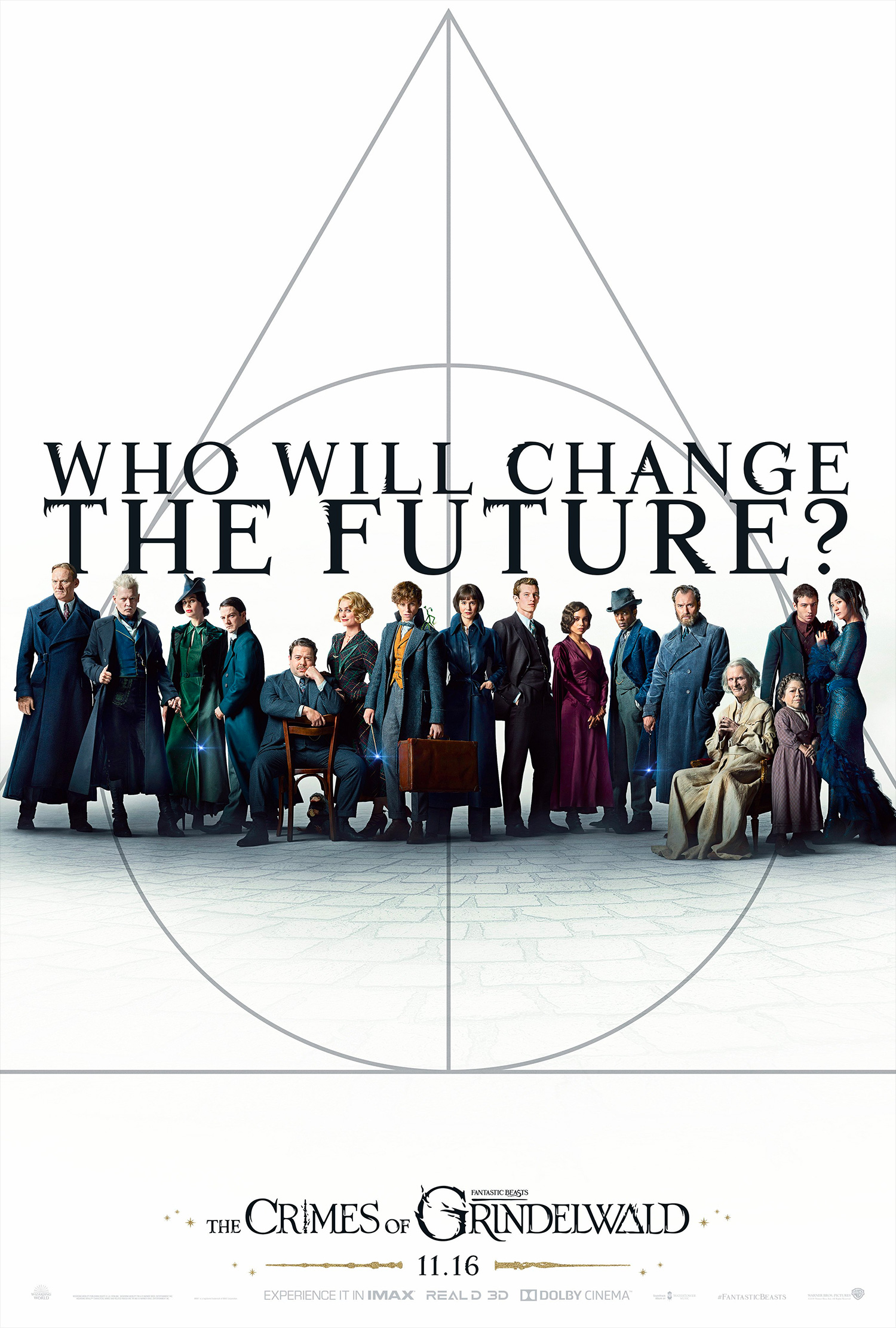 'Crimes of Grindelwald' 'Who Will Change the Future' poster