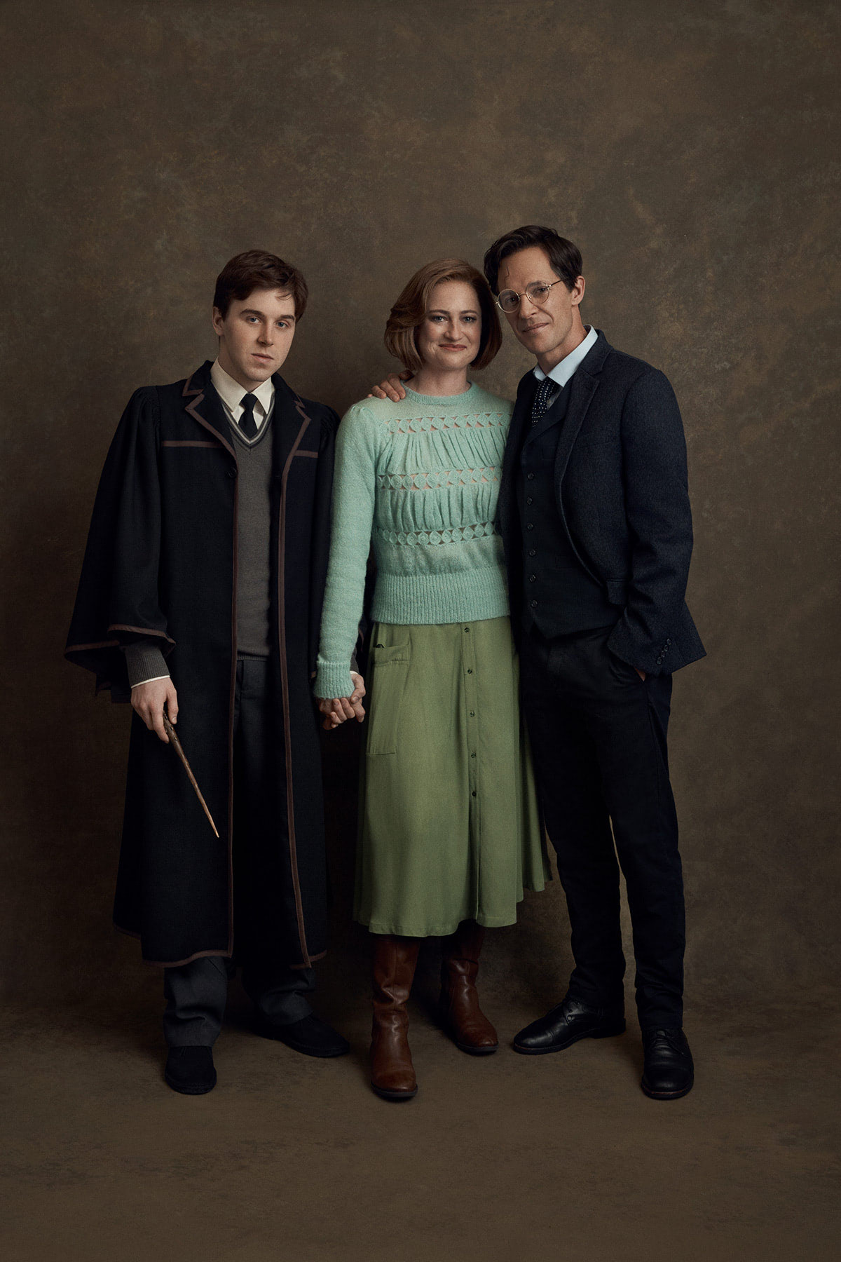 Gareth Reeves (Harry Potter), Lucy Goleby (Ginny) and Sean Rees-Wemyss (Albus)