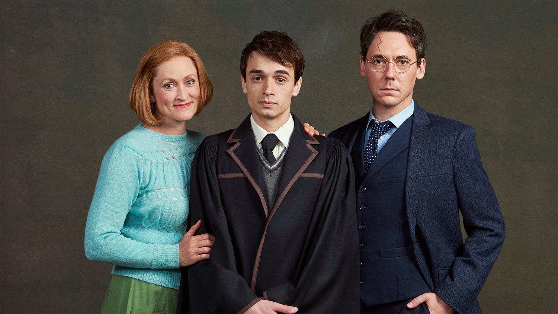 Angela Reed (Ginny Potter), Benjamin Papac (Albus Severus Potter) and John Skelley (Harry Potter)