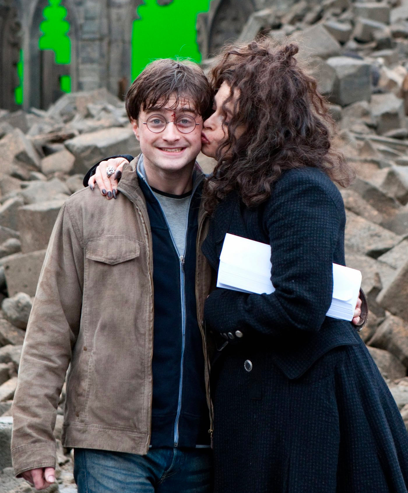 Dan Radcliffe and Helena Bonham Carter