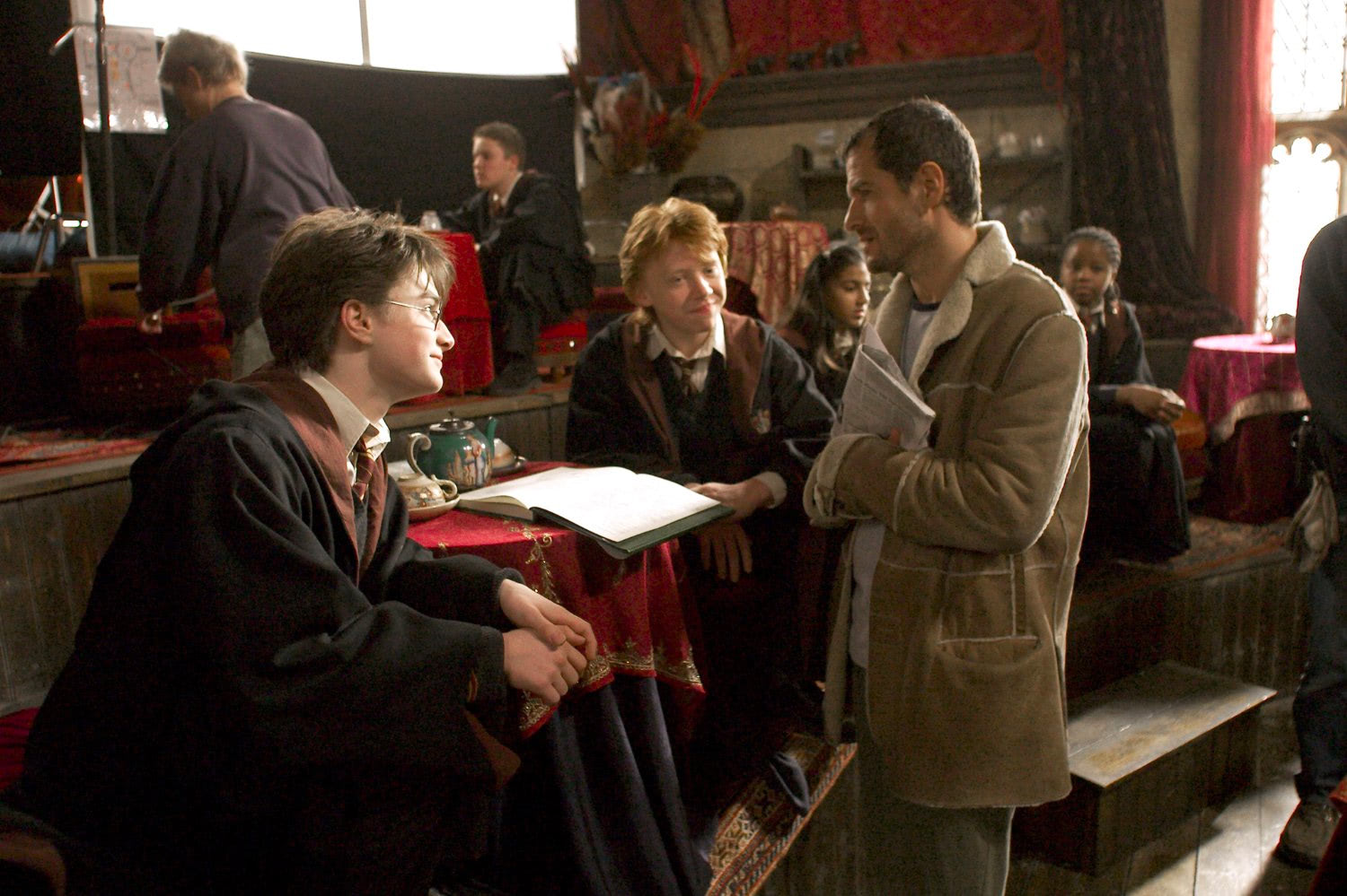 Dan Radcliffe, Rupert Grint and David Heyman