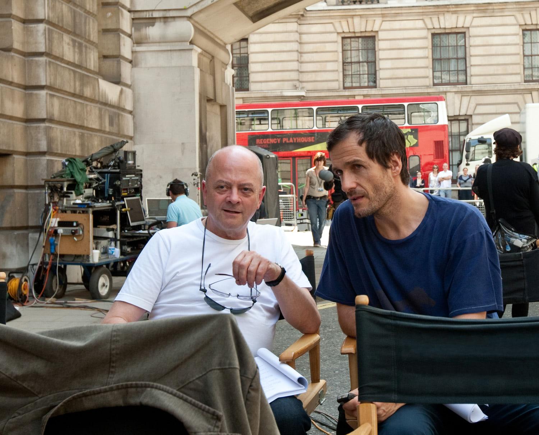 David Baron and David Yates watch filming in London