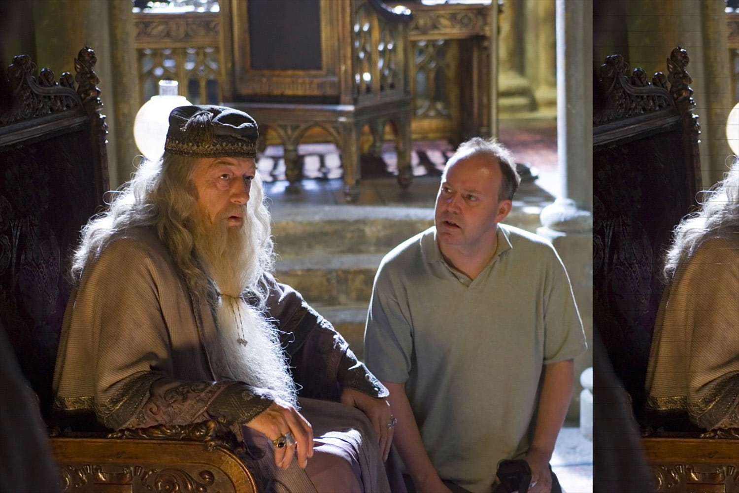 David Yates and Michael Gambon