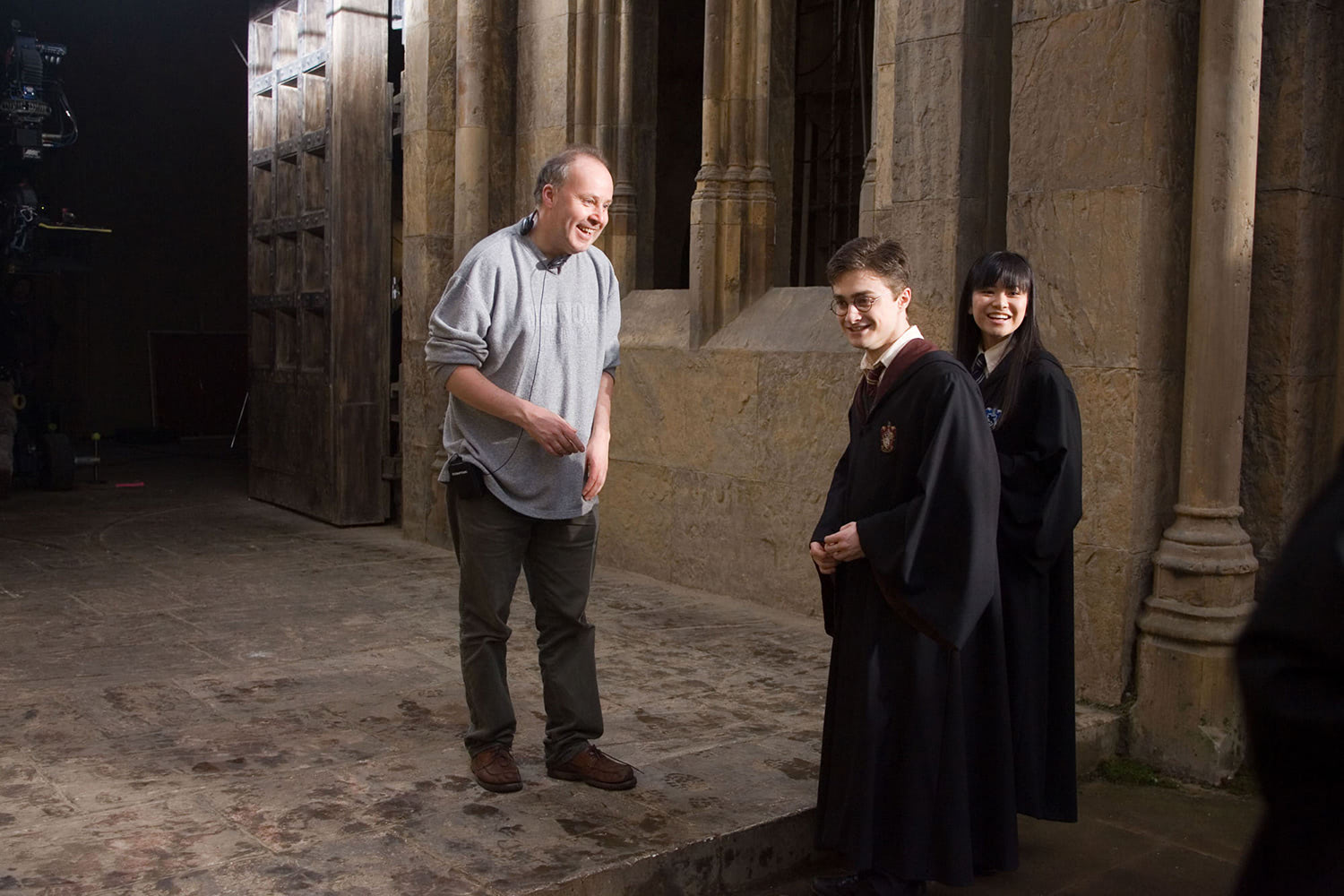 David Yates, Dan Radcliffe and Katie Leung