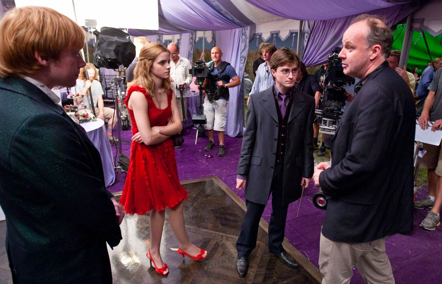 David Yates directing at the wedding
