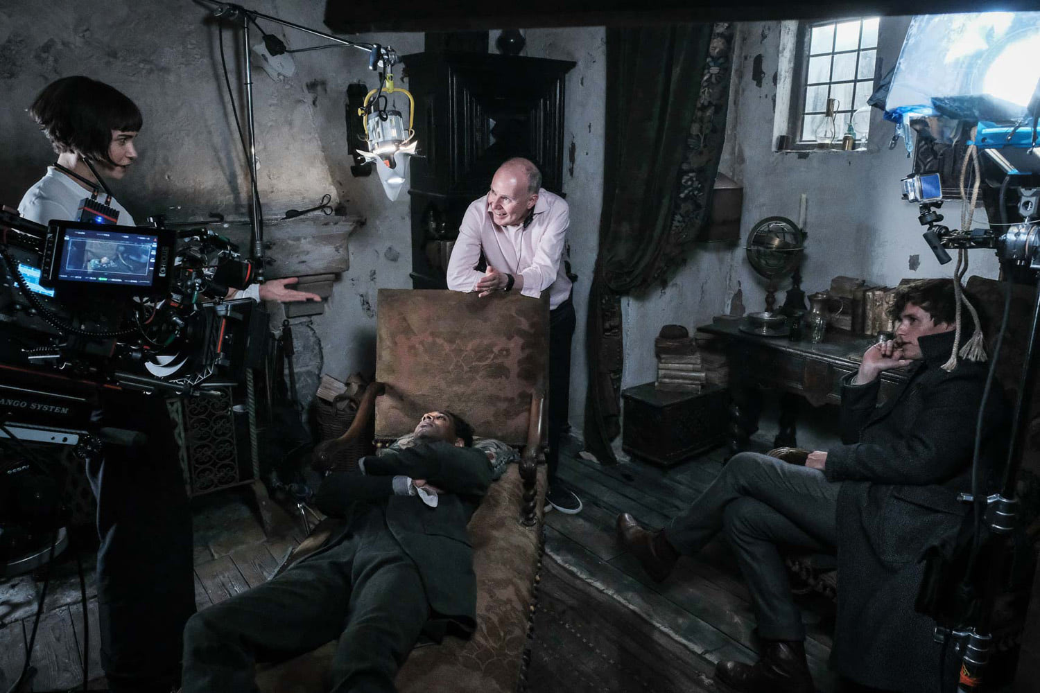 David Yates directs a scene at Flamel's house