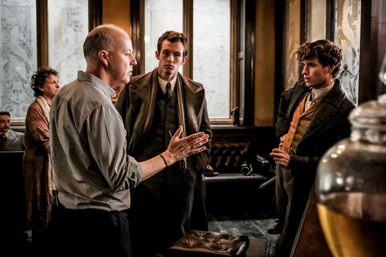 David Yates directs a scene