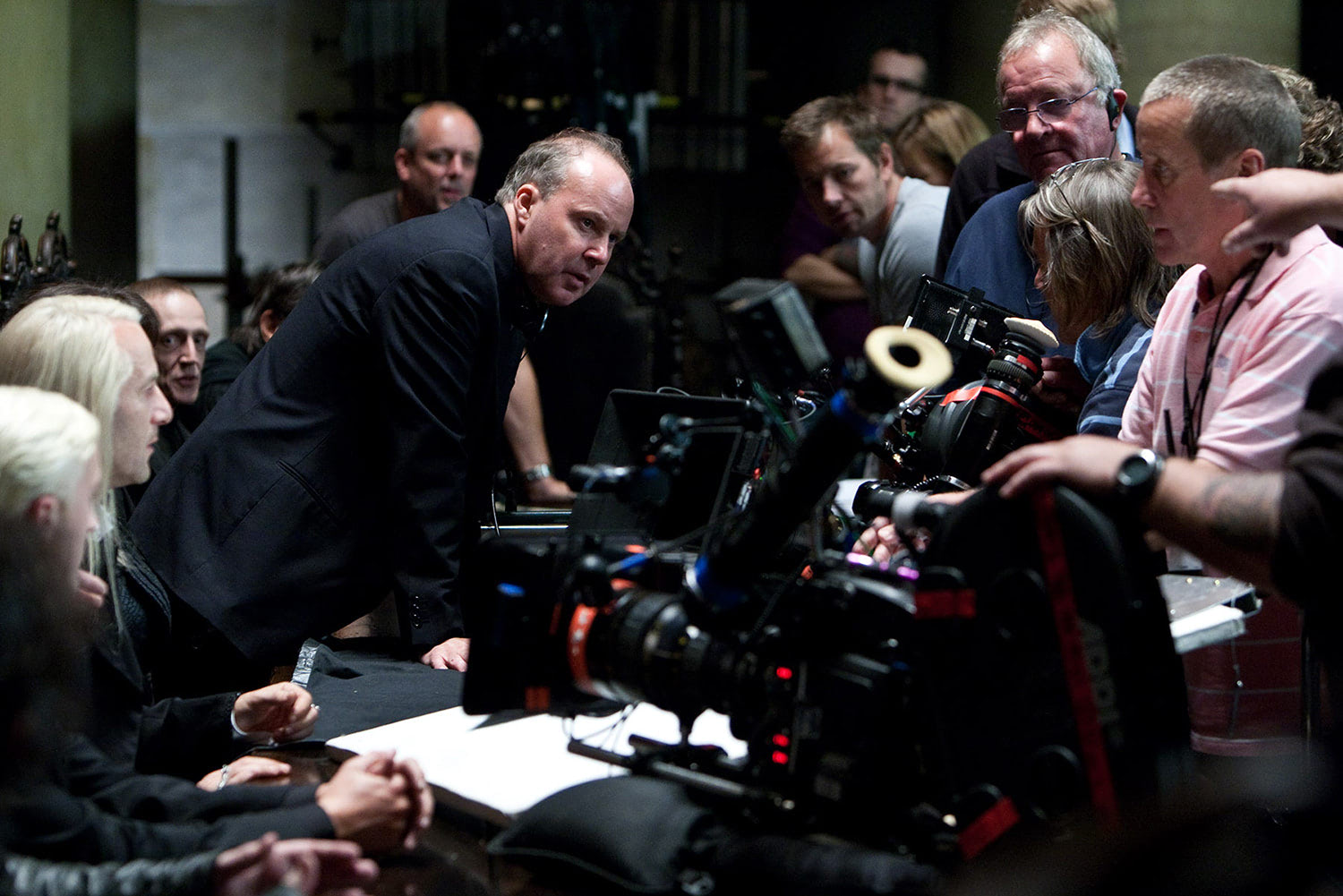 David Yates directs a sequence in 'Deathly Hallows'.
