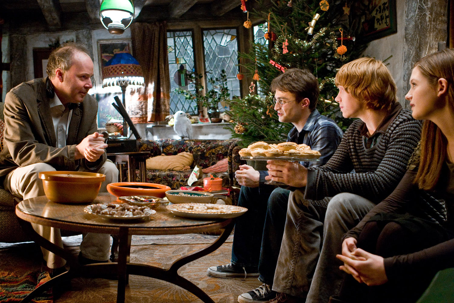 David Yates directs at The Burrow
