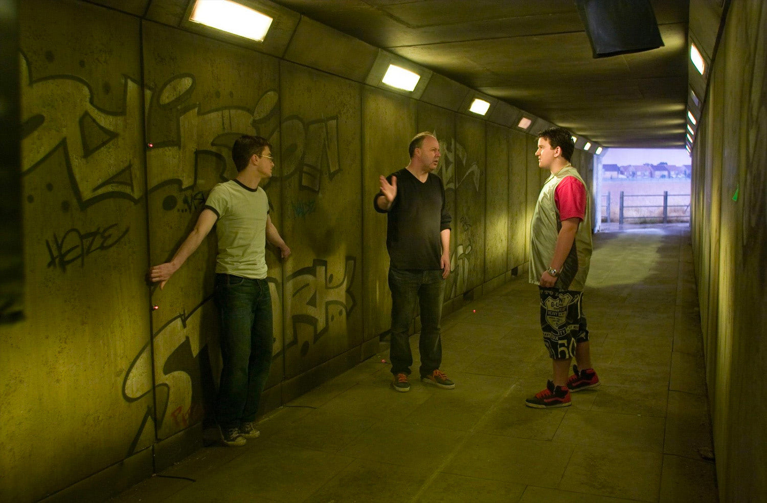 David Yates directs the underpass scene