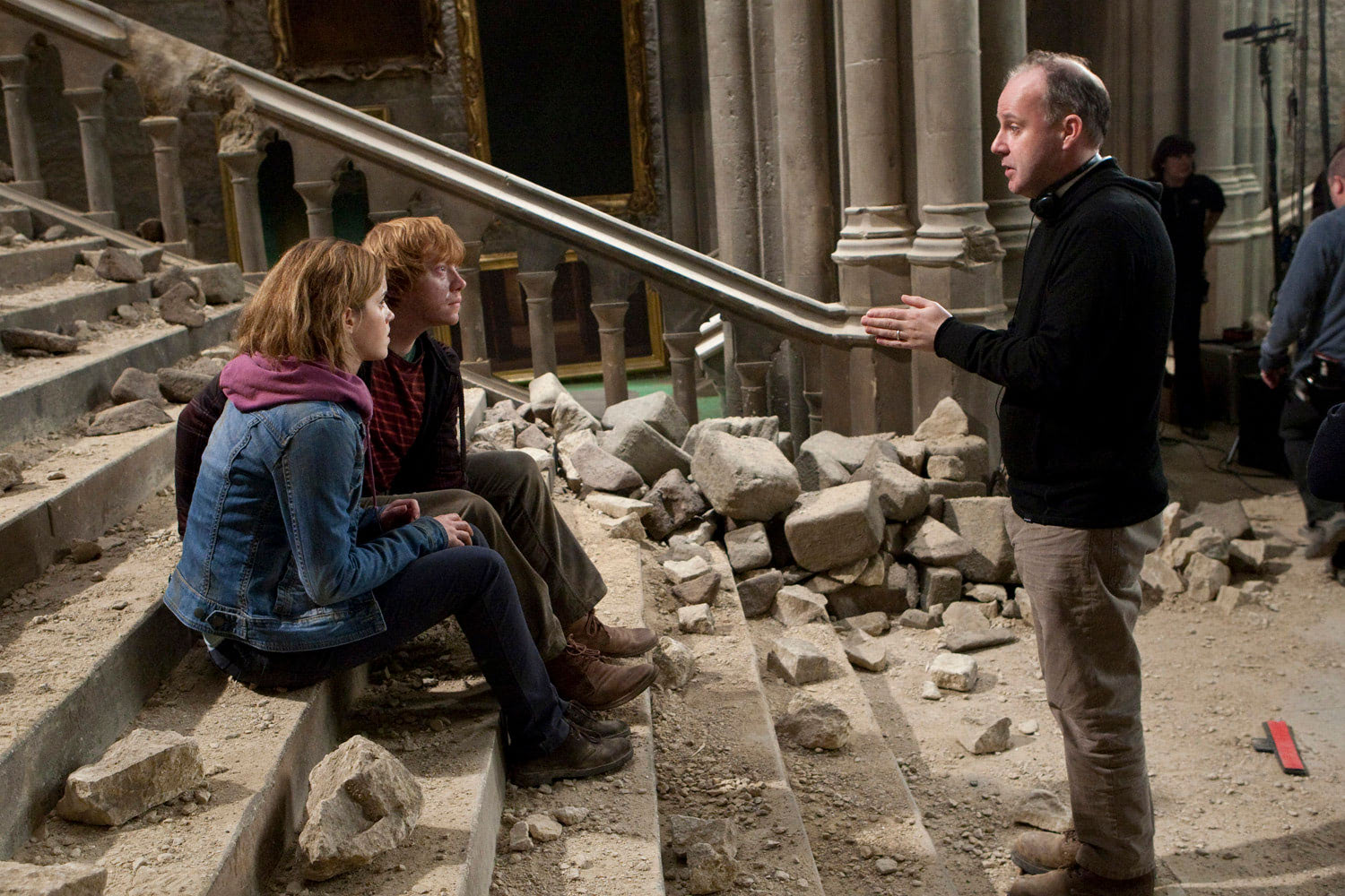 David Yates directs Emma Watson and Rupert Grint