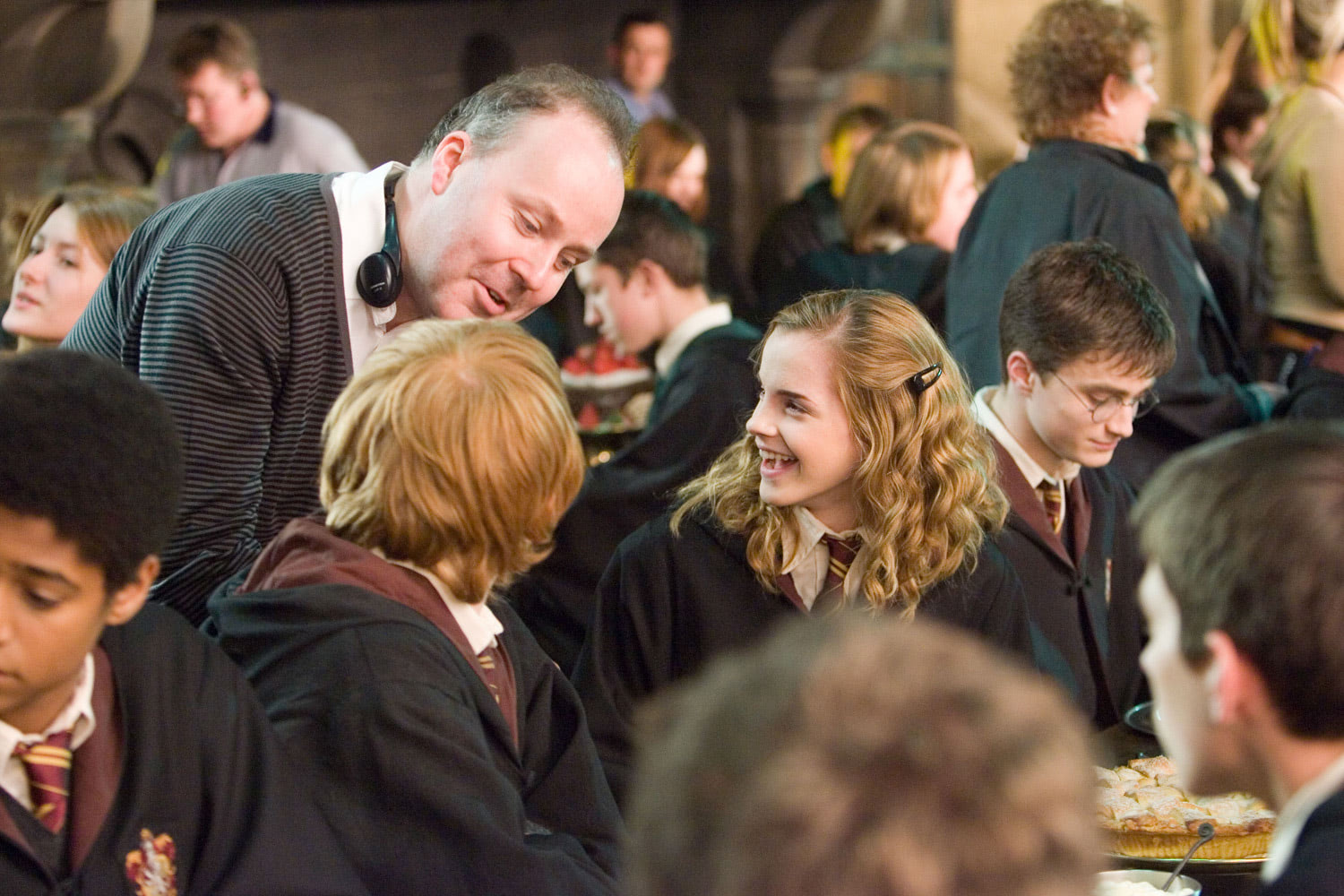 David Yates directs Rupert, Daniel and Emma