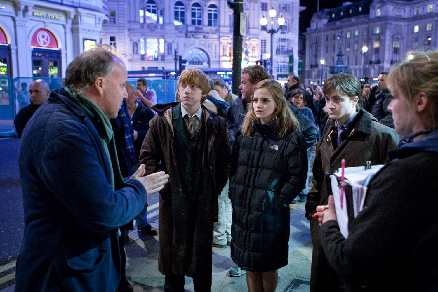 David Yates directs the trio in London