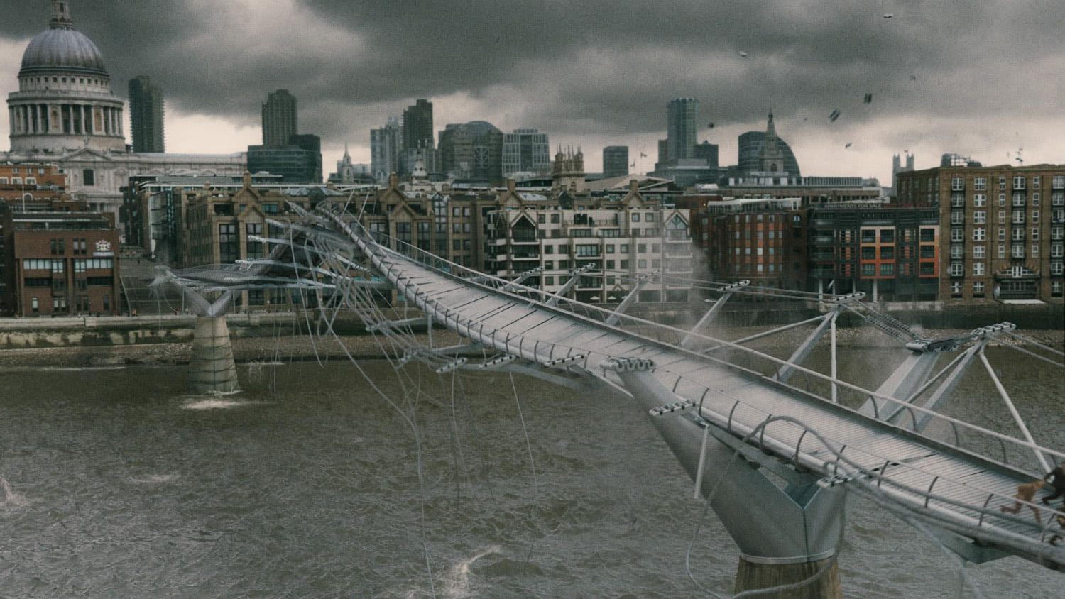 Death Eaters attack the bridge