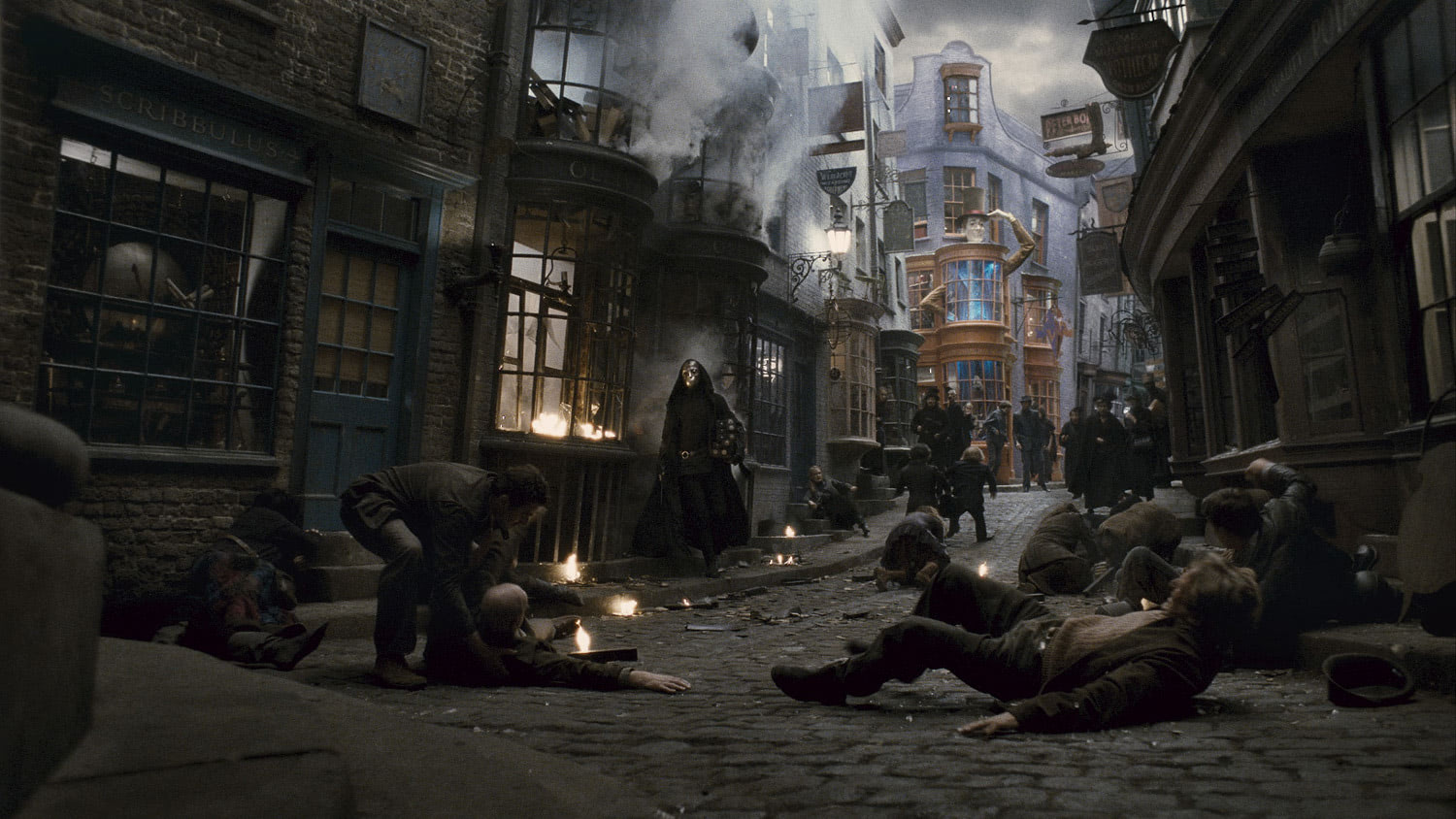 Death Eaters invade Diagon Alley