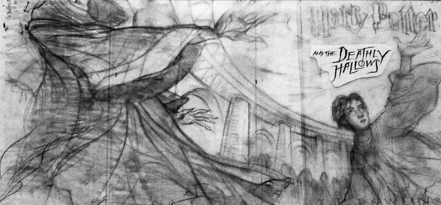 'Deathly Hallows' cover art original sketch (Mary GrandPré)