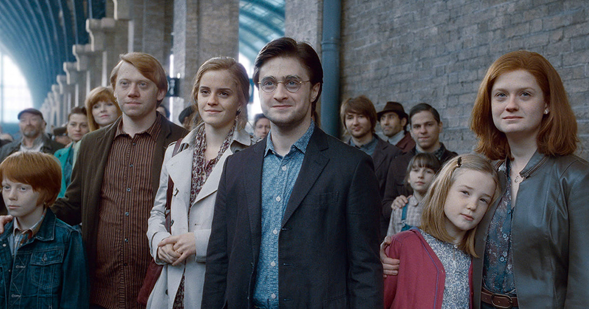 What happened to the main 'Harry Potter' characters after 'Deathly Hallows'?