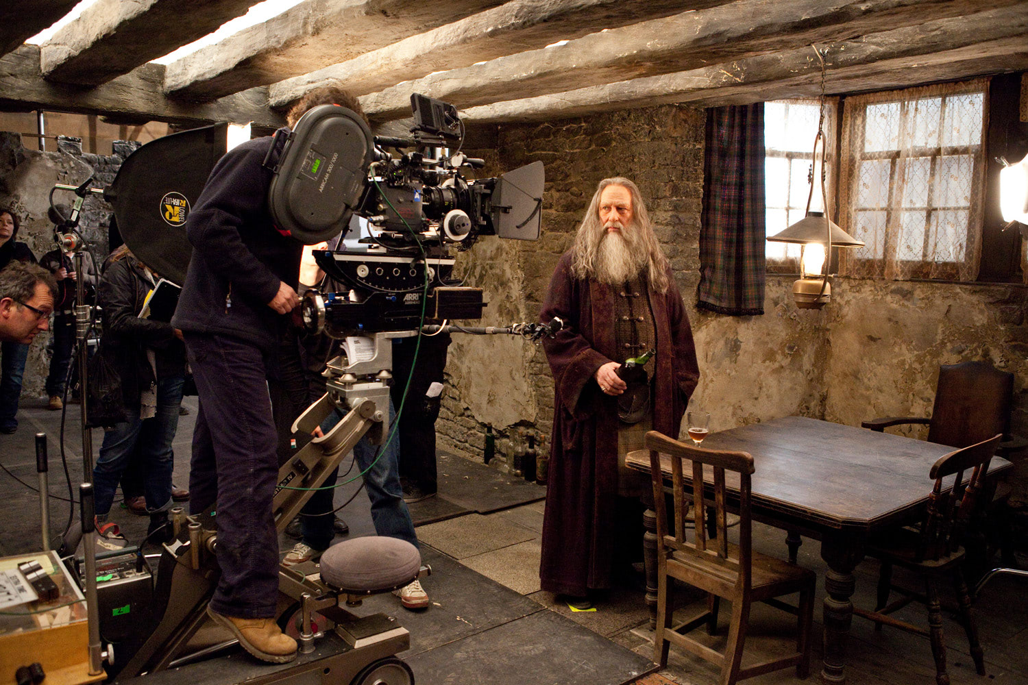 Filming in The Three Broomsticks