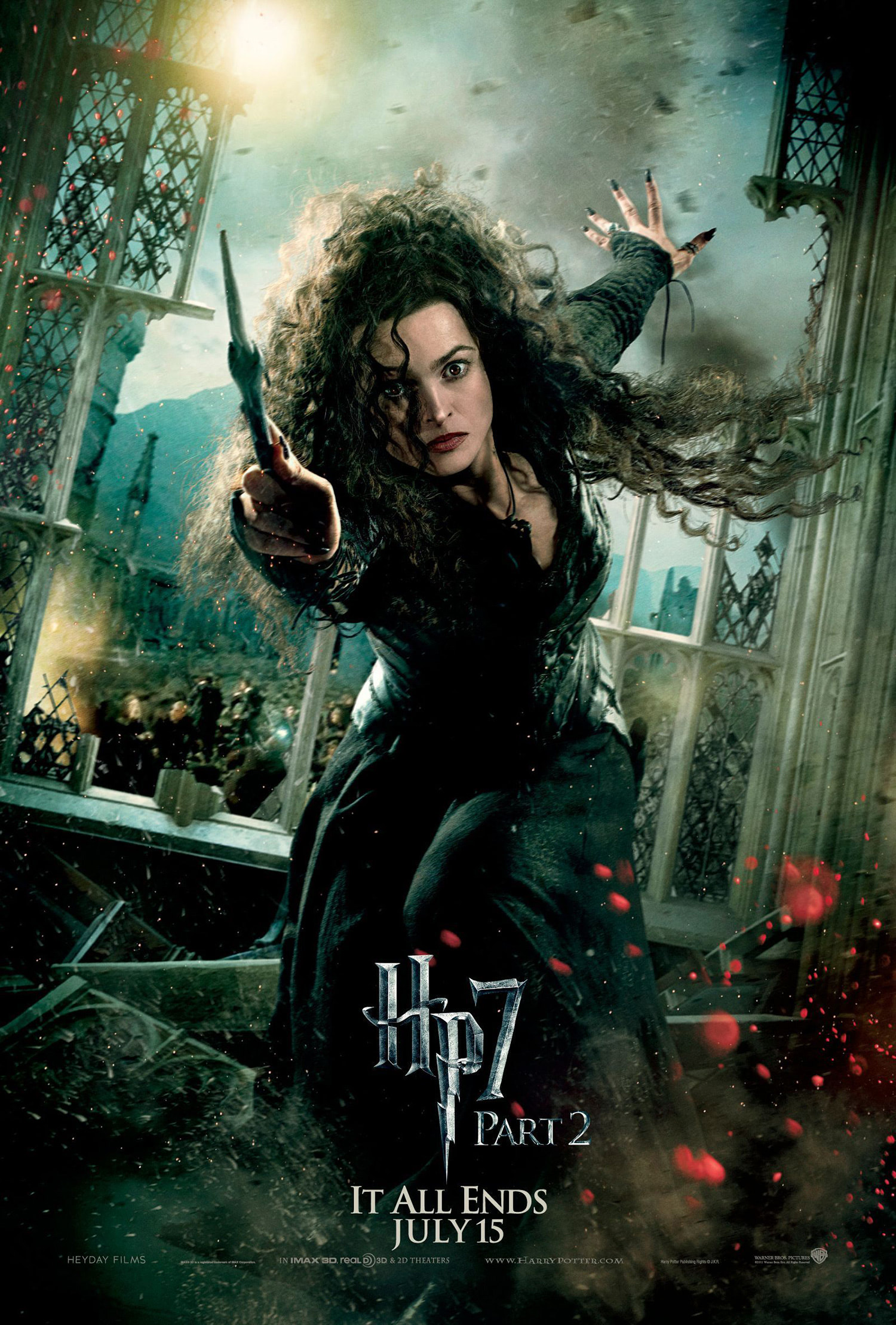 'Deathly Hallows: Part 2' Bellatrix poster